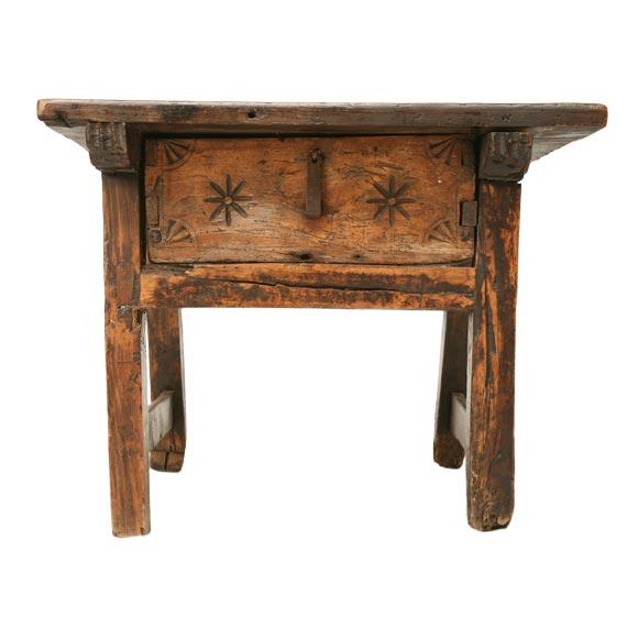 C 1750 Rustic Oak Coffee End Table At 1stdibs