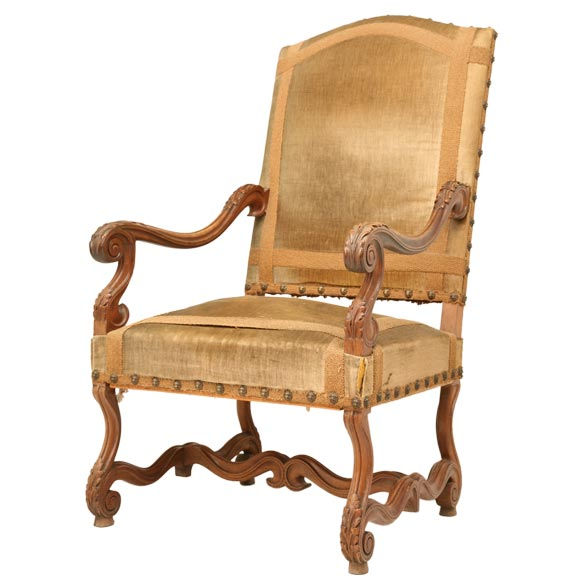 This c 1890 french louis xiii style throne chair is no longer