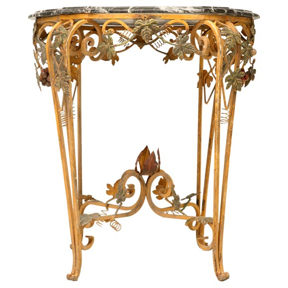 Painted Wrought Iron Table At 1stdibs