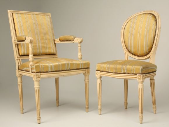 Set Of 6 Louis XVI Style Dining Chairs At 1stdibs