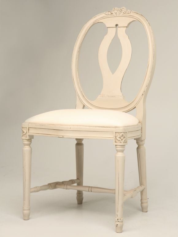 Set Of 6 Swedish Style Dining Chairs At 1stdibs