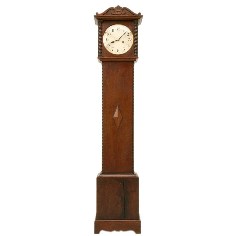 c.1910 Oak Grandmother Clock at 1stdibs