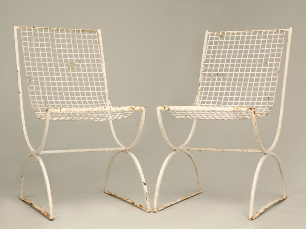 C 1930 1940 5 Pieces Of French Wire Mesh Garden Furniture