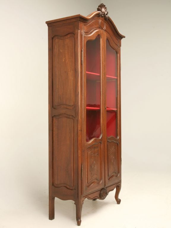 c 1920 Petite Louis XV Style China Cabinet at 1stdibs