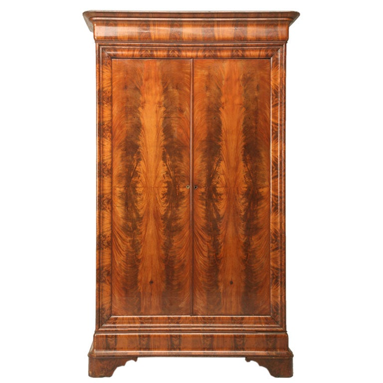louis philippe style mahogany armoire at 1stdibs. Black Bedroom Furniture Sets. Home Design Ideas