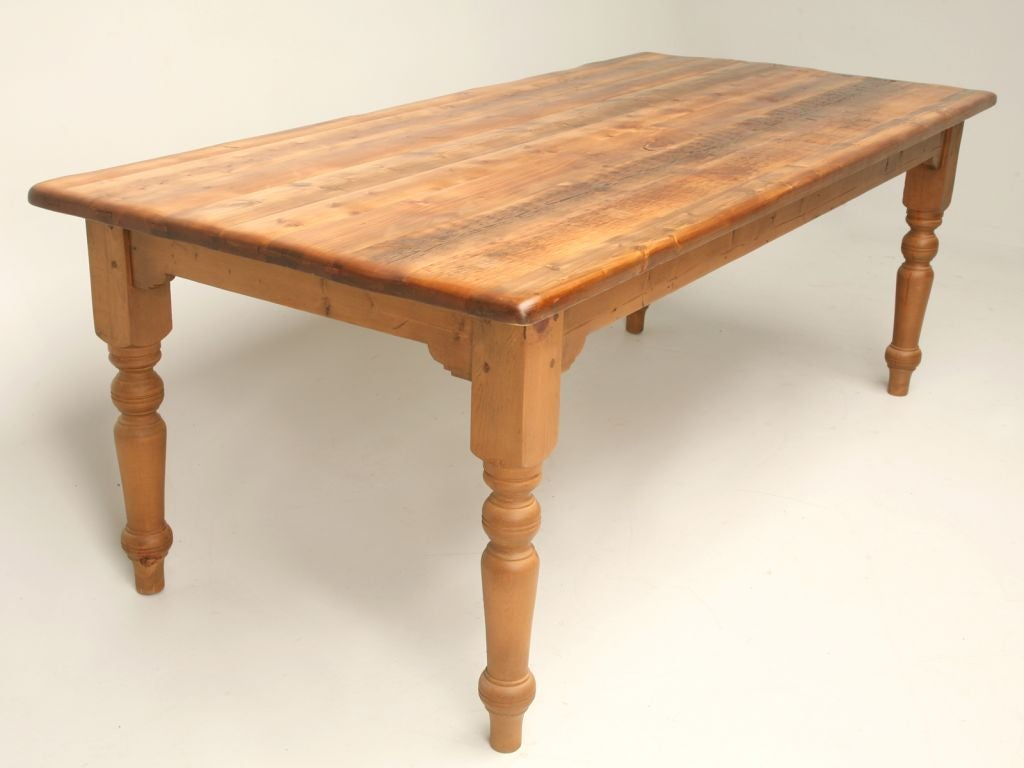 English Pine Farm Table at 1stdibs