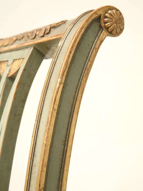 c.1900 Pair of French Directoire Style Side Chairs In Good Condition For Sale In Chicago, IL