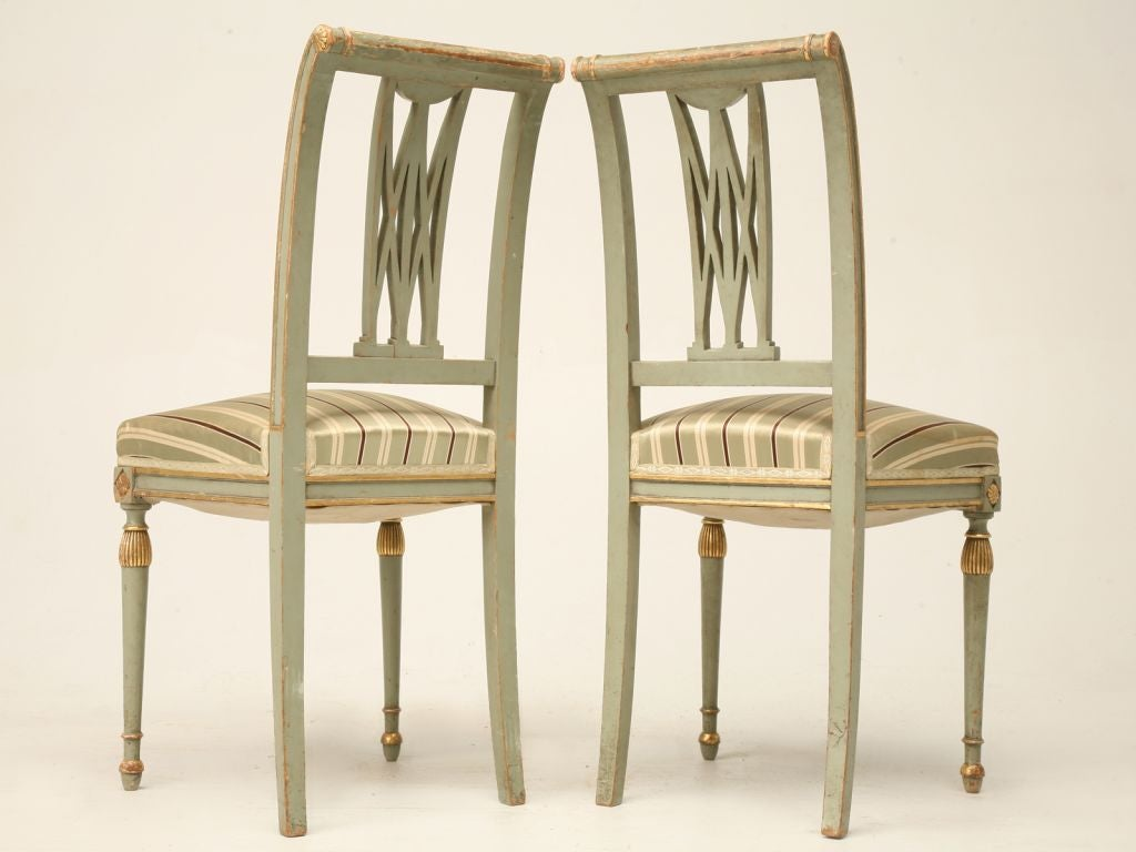 c.1900 Pair of French Directoire Style Side Chairs 9