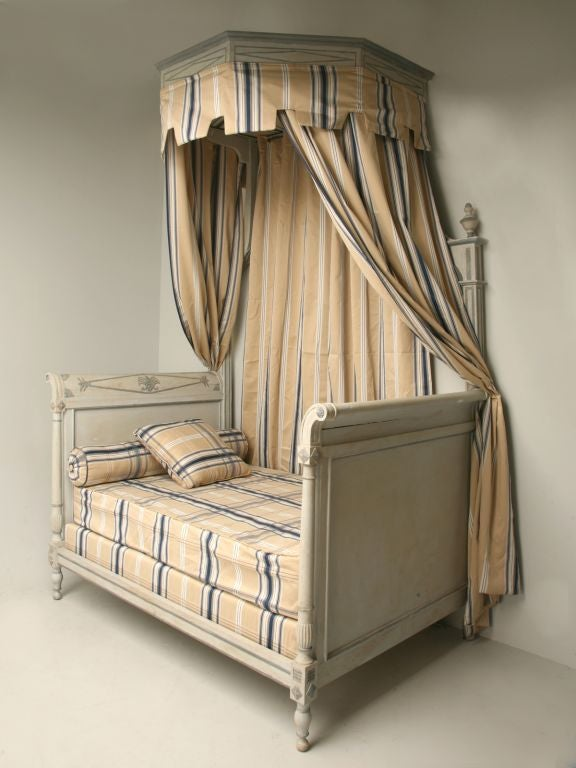Spectacular Antq French Directoire Style Canopy Bed At