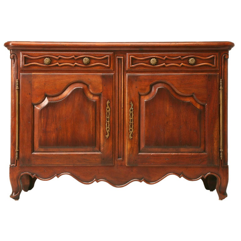 Solid Walnut Buffet ~ Extra shallow solid walnut buffet at stdibs