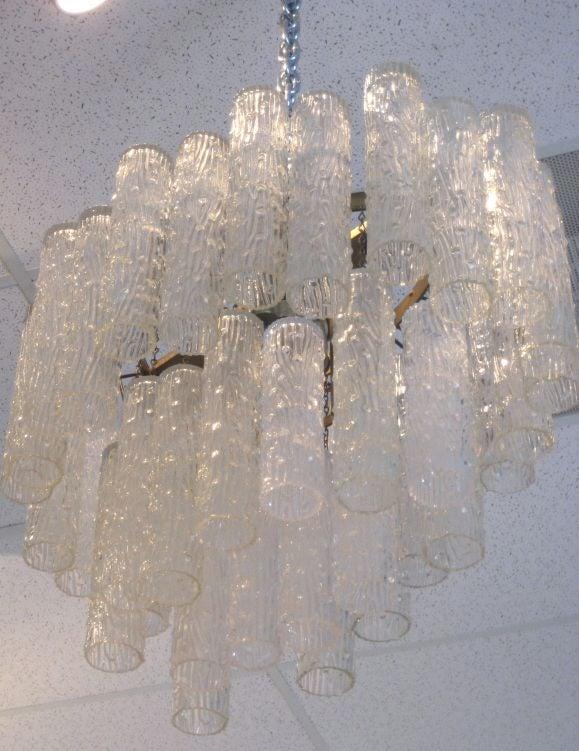 Venini Glass Chandelier At 1stdibs