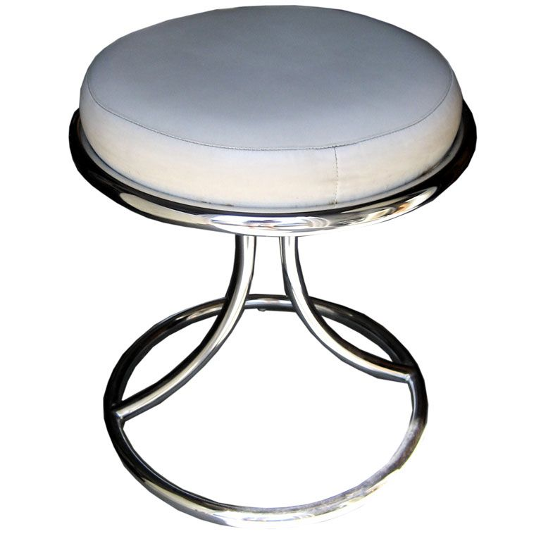 Mid Century Chrome Vanity Stool at 1stdibs : porgimg2461 from 1stdibs.com size 768 x 768 jpeg 42kB
