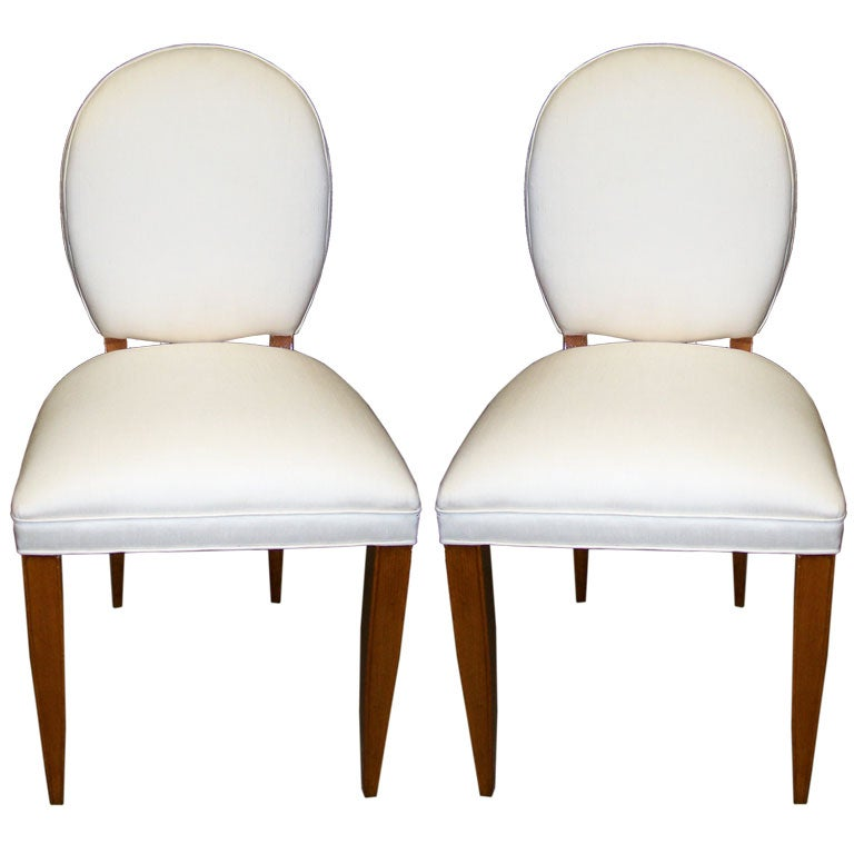 Pair of Side Chairs Attributed Andre Arbus