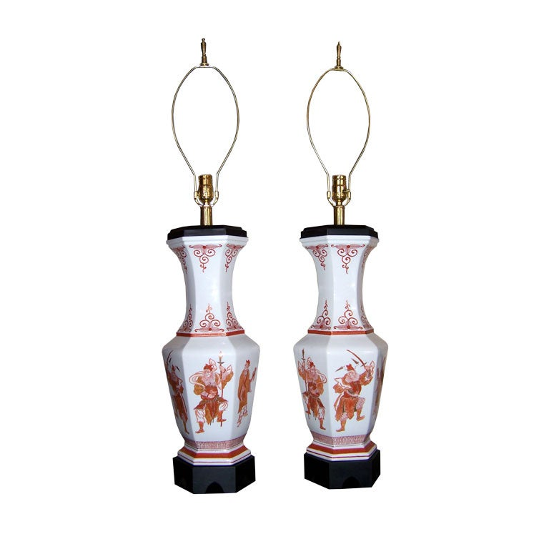 Pair Of Asian Style Table Lamps For Sale At 1stdibs