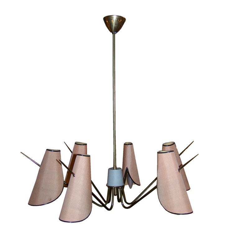 1950s Italian Six-Light Chandelier