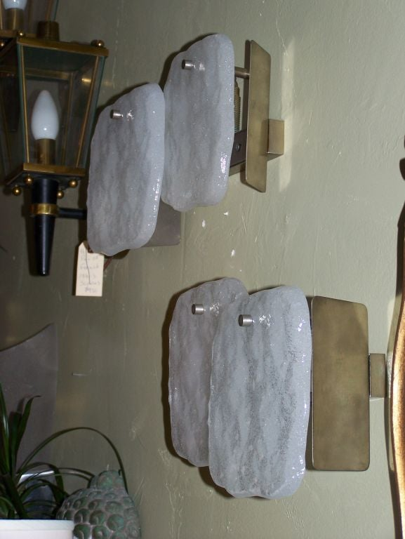 Austrian Pair of J.T. Kalmar Sconces For Sale