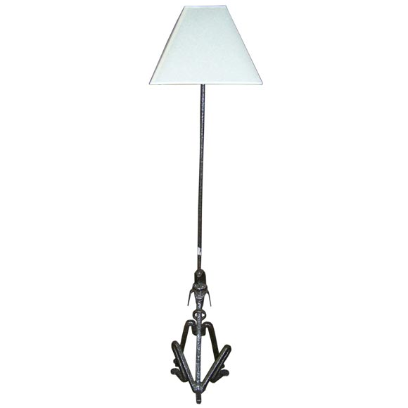 Beautiful iron pluto floor lamp for sale at 1stdibs for Beautiful floor lamps