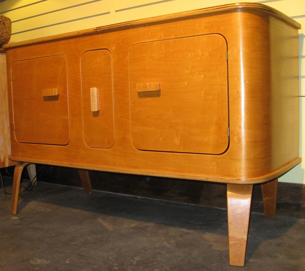 Birch molded plywood buffet by thaden jordan at stdibs