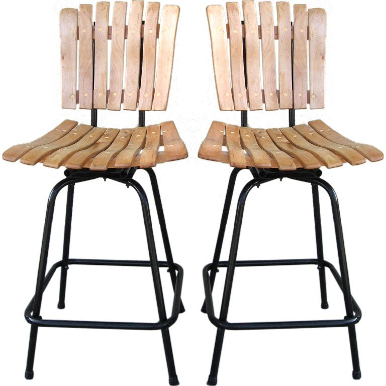 Pair of Countertop Stools by Arthur Umanoff at 1stdibs