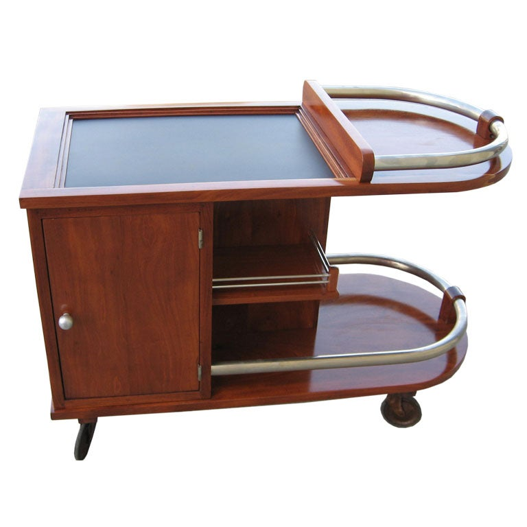 Mahogany Art Deco Bar Cart At 1stdibs