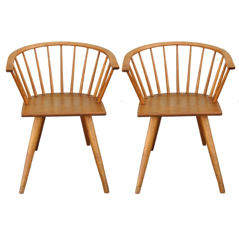 Pair Of Chairs By Russel Wright For Conant Ball 1