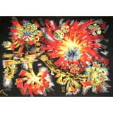 French Mid-Century Floral Tapestry By Robert Debieve for Corot Edition