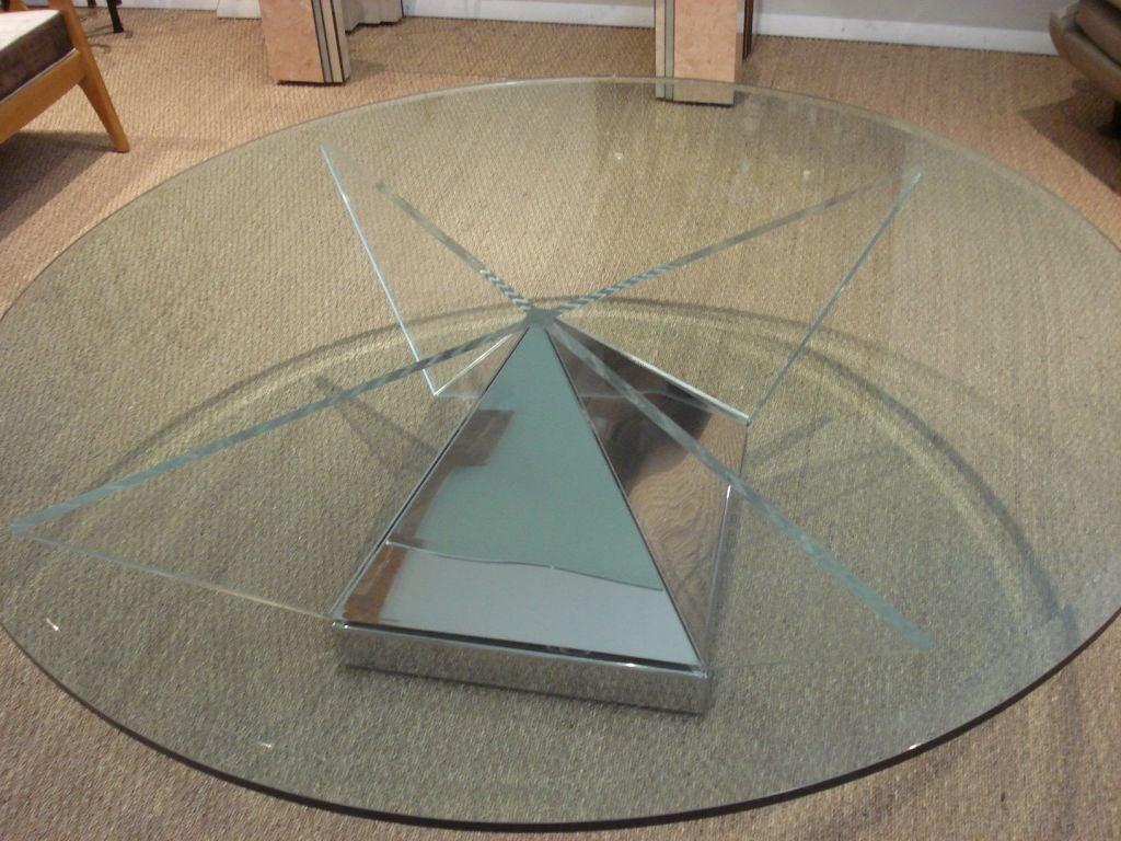 Whimsical Pyramid Base Coffee Table At 1stdibs