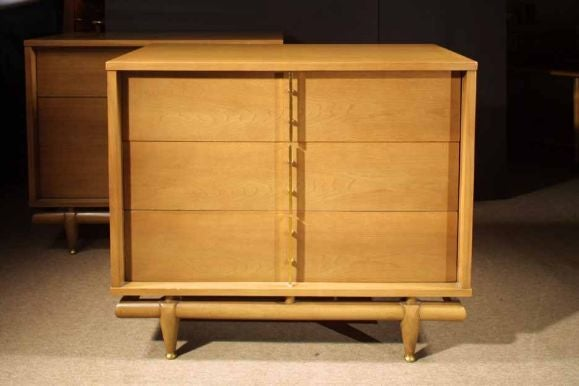 Pair Bleached Walnut Chests by Kent Coffey. Circa 1960 image 3
