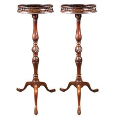 Exceptional Pair of Georgian Mahogany Torcheres, circa 1755