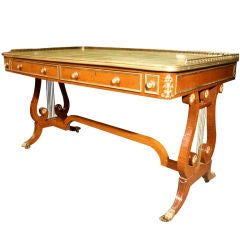 Exceptional Regency Partridgewood Writing Table. Circa 1810