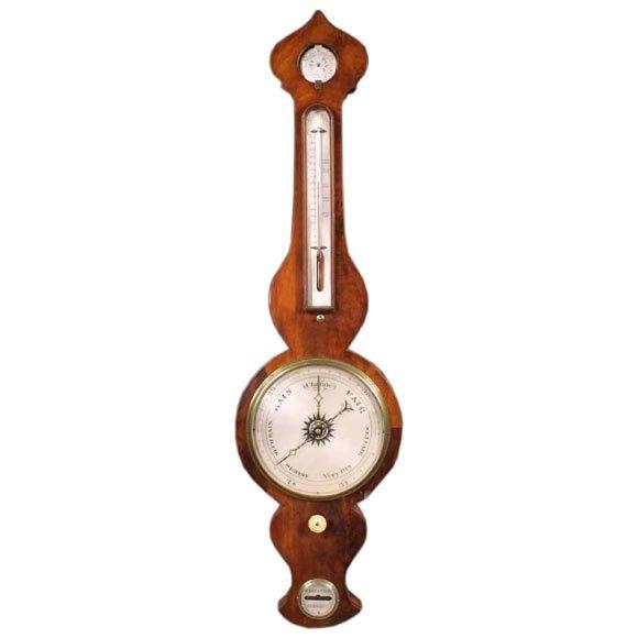 Fine Regency Mahogany Wheel Barometer, circa 1810