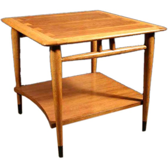 1950s Mid Century End Table By Lane Furniture: American Mid-Century Modern, Walnut Table By Lane, Circa