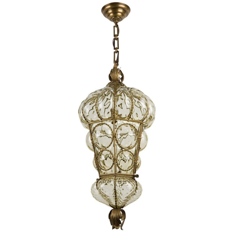 light amber blown murano glass pendant at 1stdibs. Black Bedroom Furniture Sets. Home Design Ideas