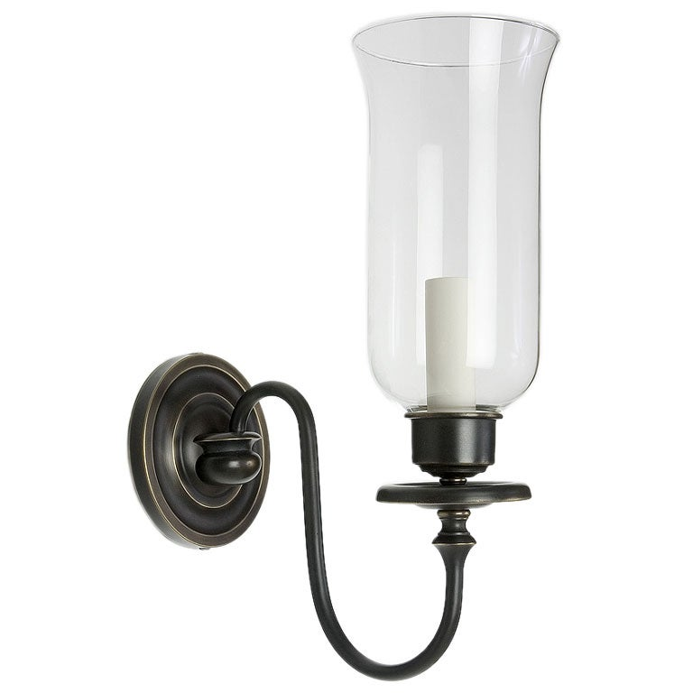 Hurricane Wall Light : Marion Hurricane Sconce by Remains Lighting at 1stdibs