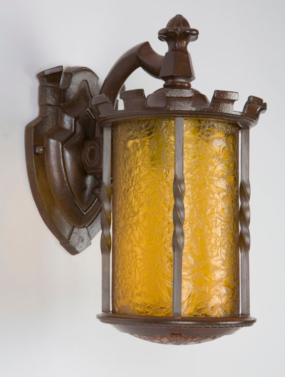 Dark Bronze Wall Sconces : A pair of dark bronze exterior sconces at 1stdibs