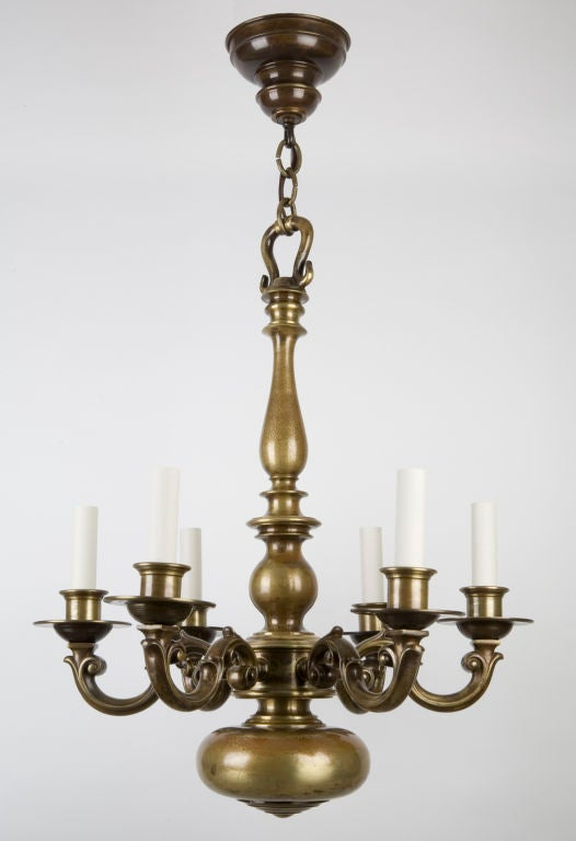 Cora Ceiling Light Bronze 6 Arm : A six arm bronze chandelier at stdibs