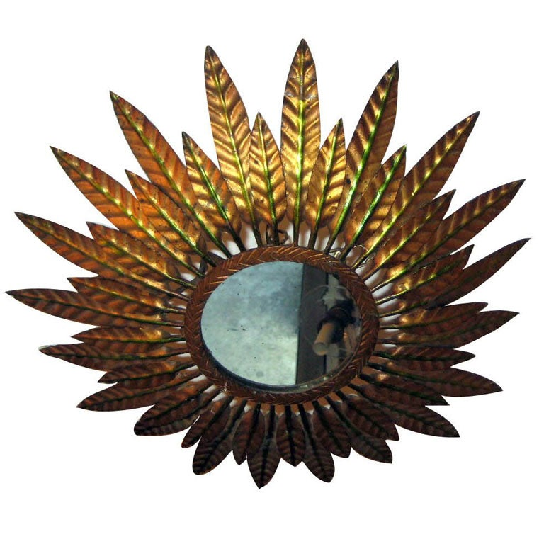 Sunburst Flush Light Fixture
