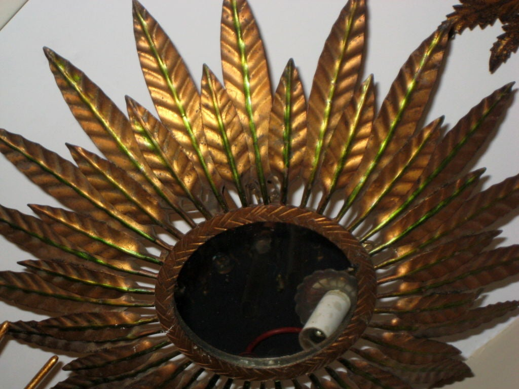 Sunburst Flush Light Fixture image 2