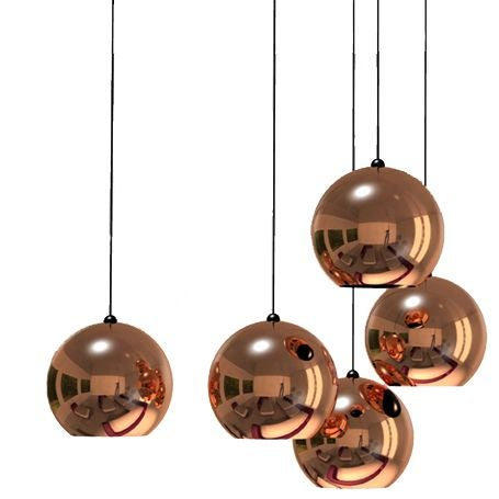 copper shade pendant by tom dixon at 1stdibs. Black Bedroom Furniture Sets. Home Design Ideas