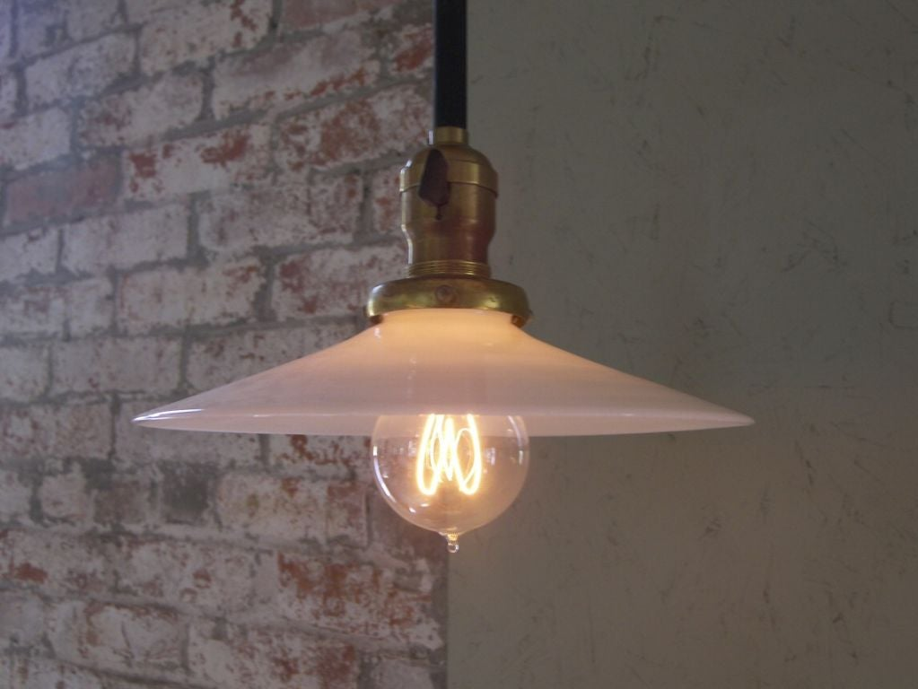 Milk Glass Wall Lamps : Vintage Industrial Mid-Century Modern Swing out Steel Milk Glass Wall Lamp Light For Sale at 1stdibs