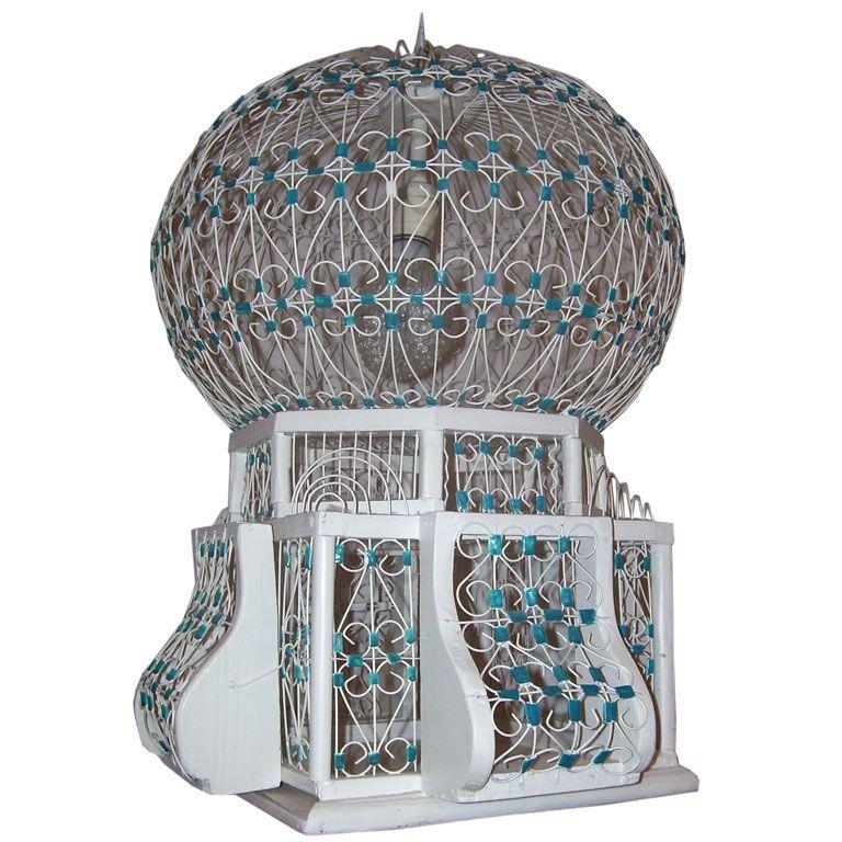 1960s taj mahal birdcage chandelier 1 - Birdcage Chandelier