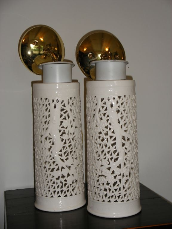 Unknown BLANC DE CHINE HANGING LIGHTS -2 For Sale