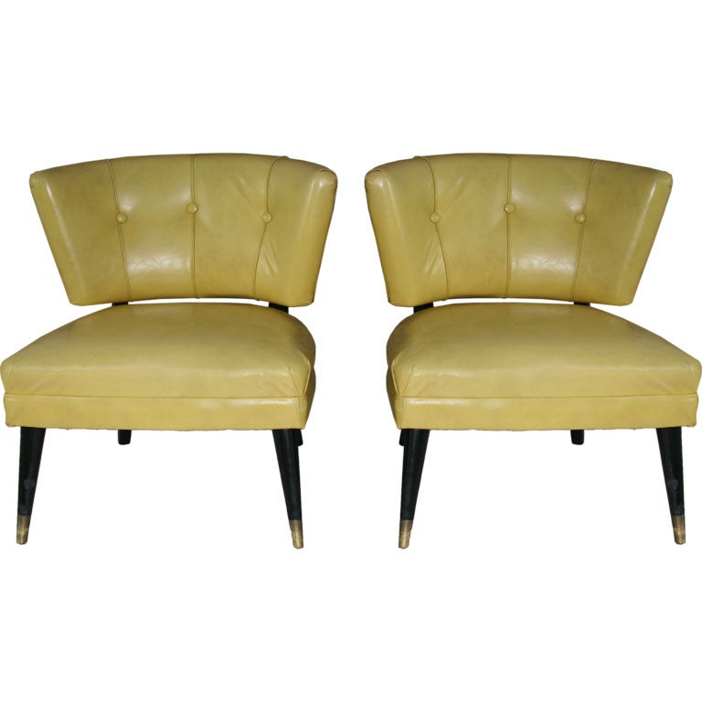 This napoleon iii club chair is no longer available - Pair Of 1950s Chairs At 1stdibs