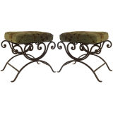Pair of Metal Benches