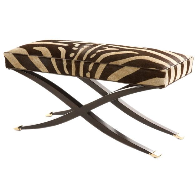Re Issue X Leg Bench In Chocolate Zebra At 1stdibs