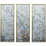 Hand-Painted Chinoiserie Wallpaper Panels