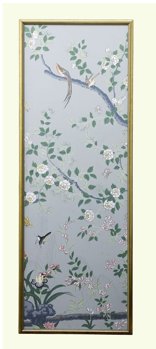 Hand Painted Chinoiserie Wallpaper Panels At 1stdibs