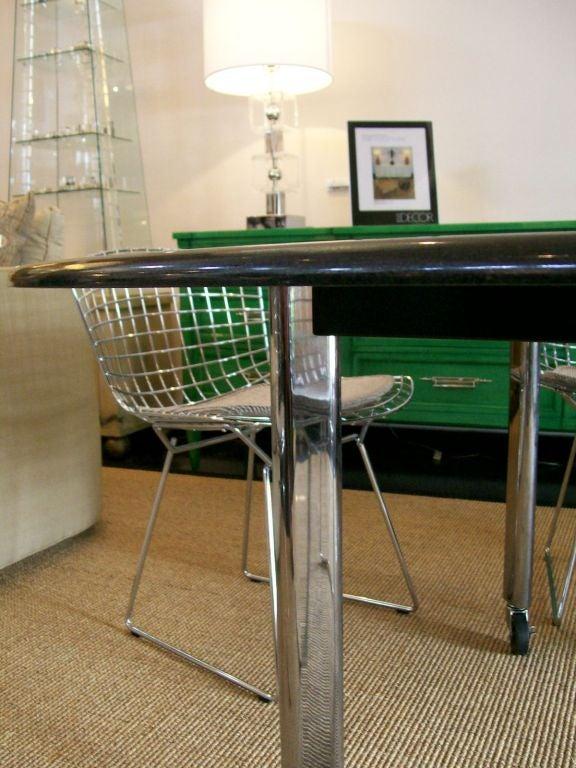 Joe D'urso Table in Polished Black Granite For Sale 1