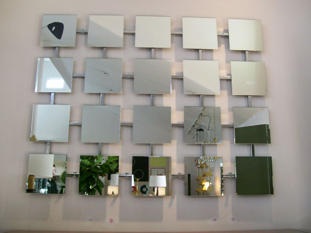 A massive wall mirror installation at 1stdibs for How to install a mirror on the wall