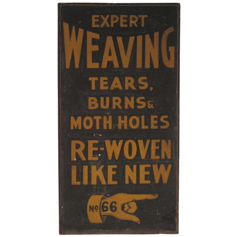 Old Advertising Sign From New York City At 1stdibs